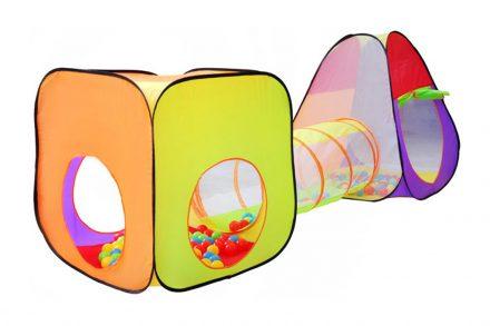 Αναδιπλούμενο παιδικό σπιτάκι σκηνή 3 σε 1 συνολικού μήκους 280cm αποτελούμενο απο ένα κύβο