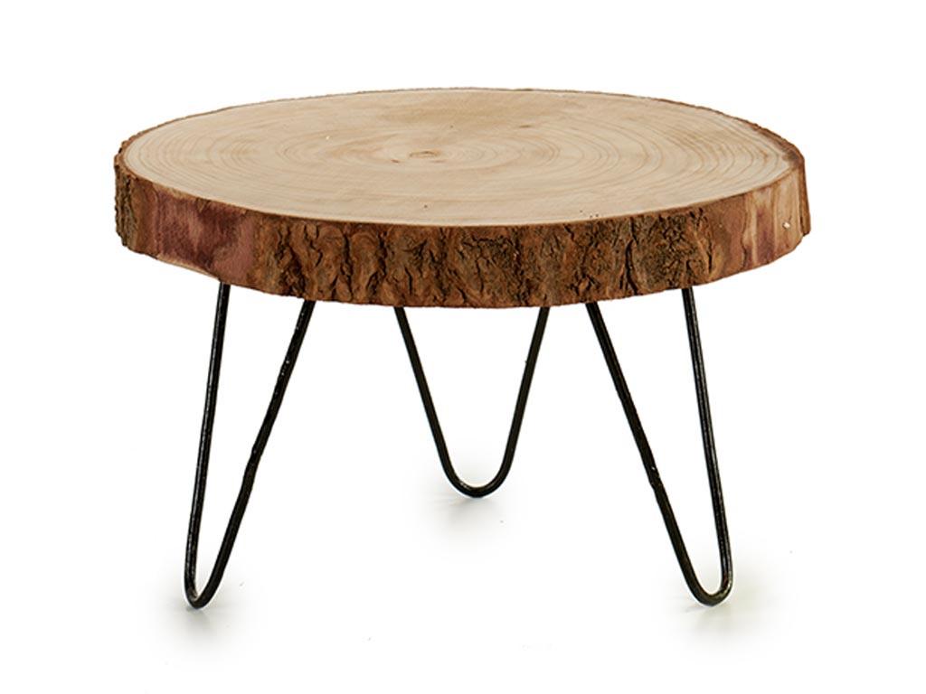 Βοηθητικό Τραπέζι σαλονιού από Μασίφ Κορμό Ακακίας