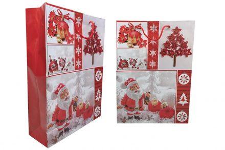 Χάρτινη Χριστουγεννιάτικη Τσάντα δώρου Διαστάσεων 44x32x11 cm - Cb