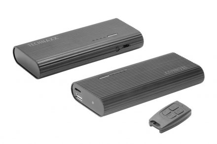 Technaxx USB PowerBank 6000mAh με FullHD Camera για εγγραφή Βίντεο σε Μαύρο Χρώμα