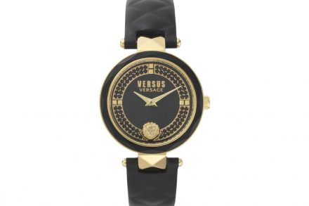 Versus by Versace Γυναικείο Ρολόι Χειρός 36mm με δερμάτινο λουράκι σε μαύρο χρώμα