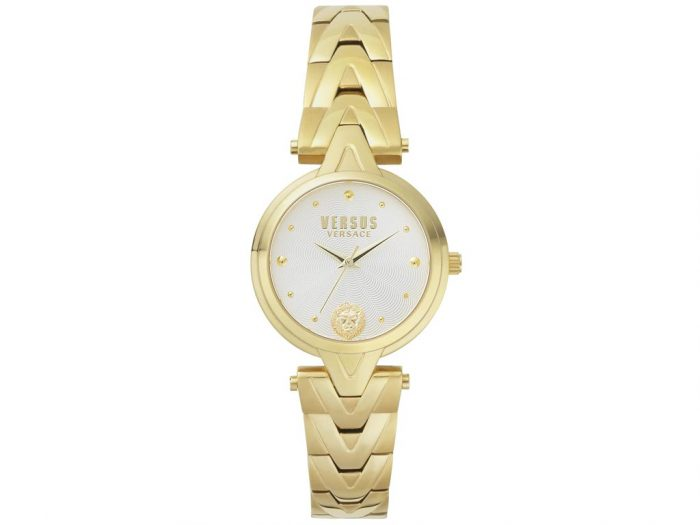 Versus by Versace Γυναικείο Ρολόι Χειρός 34mm με μπρασελέ σε χρυσό χρώμα