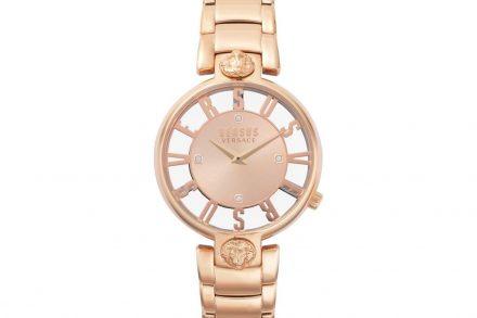 Versus by Versace Γυναικείο Ρολόι Χειρός 34mm με κρύσταλλα Swarovski και μπρασελέ σε rose gold χρώμα