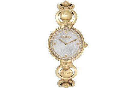 Versus by Versace Γυναικείο Ρολόι Χειρός 34mm με κρύσταλλα Swarovski και μπρασελέ σε χρυσό χρώμα