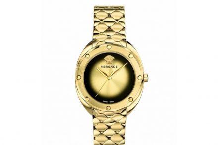 Versace Γυναικείο Ρολόι Χειρός 38mm με μπρασελέ σε χρυσό χρώμα