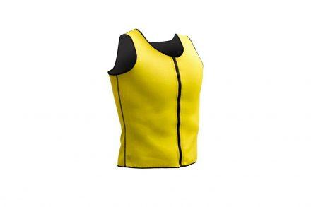 Ανδρικό Αθλητικό Γιλέκο Αδυνατίσματος και Εκγύμνασης από Πολυεστέρα με επίδραση sauna σε Κίτρινο χρώμα