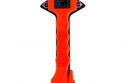 Σφυρί έκτακτης ανάγκης 2 σε 1 με δύο σημεία χάλυβα για θραύση τζαμιών και κόψιμο ζωνών ασφαλείας σε Πορτοκαλί χρώμα