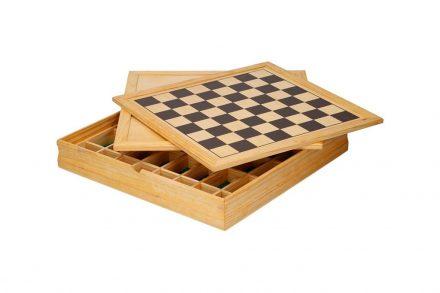 Σετ ξύλινα επιτραπέζια παιχνίδια 5 σε 1