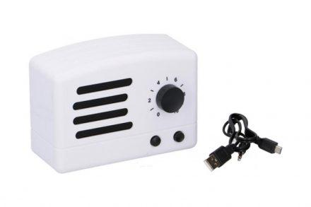 Dunlop Ρετρό Φορητό Ηχείο Bluetooth 1x3W 350mah σε λευκό χρώμα