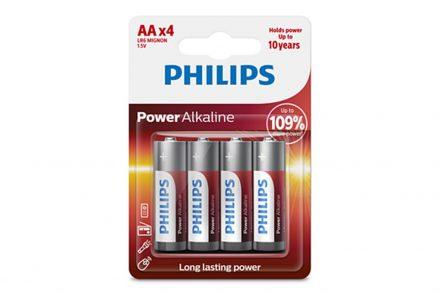 Philips αλκαλικές μπαταρίες 4 τεμαχίων