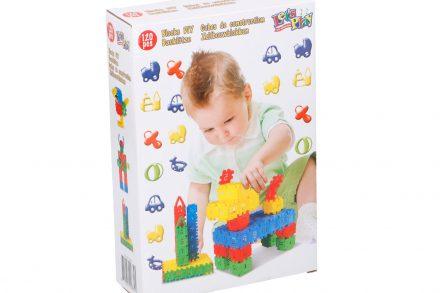Σετ Πλαστικά Τουβλάκια 120 τεμαχίων με Περίγραμμα και Τρύπες για ατέλειωτες ώρες Παιχνιδιού και Δημιουργίας κατάλληλο για Παιδιά άνω των 3 ετών