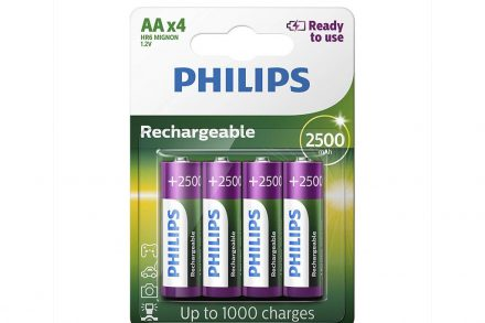 Philips Επαναφορτιζόμενες μπαταρίες AA Σετ 4 τεμαχίων 2500 mAh