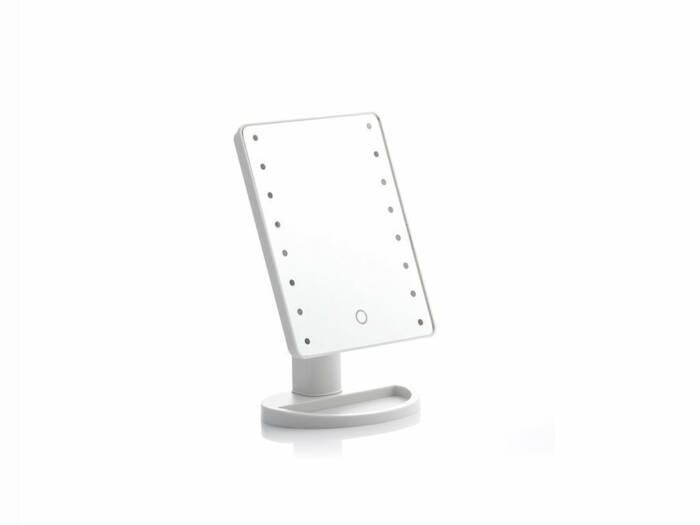Επιτραπέζιος Καθρέφτης με LED Φωτισμό για μακιγιάζ με Περιστροφή 180º και Κουμπί αφής για ενεργοποίηση