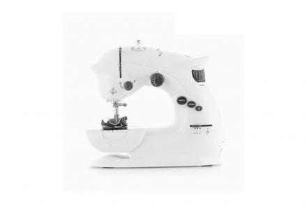Ραπτομηχανή Συμπαγής Sewing machine 6V 1000 mA με 2 ταχύτητες και LED σε Λευκό χρώμα