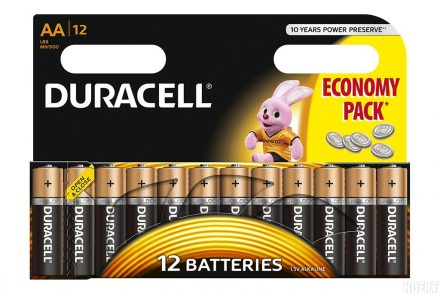 Duracell Σετ αλκαλικές μπαταρίες 12 τεμαχίων AA/R06 - Duracell