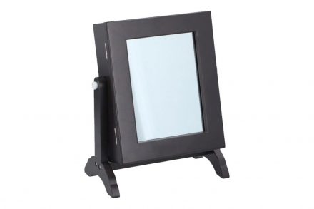 Touch of Beauty Επιτραπέζια Μπιζουτιέρα Κοσμηματοθήκη με Καθρέφτη σε Σκούρο Καφέ χρώμα