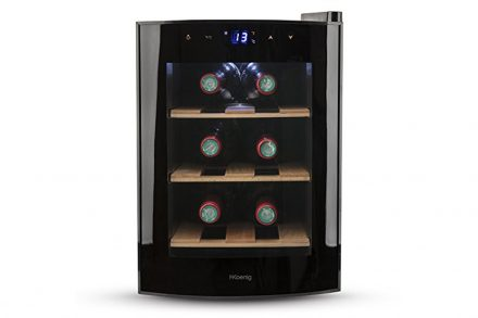 H.Koenig Ψυγείο  Συντηρητής Κρασιών 17L για 6 φιάλες με ηλεκτρονική οθόνη LED