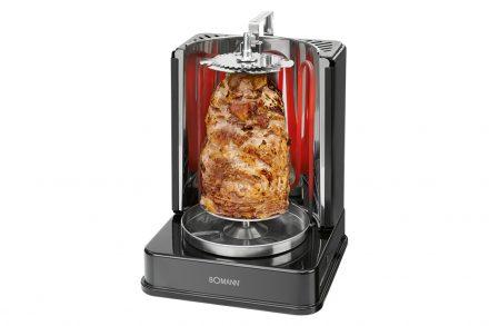 Bomann Ηλεκτρονική Κάθετη Ψησταριά - Grill 1400W με 7 σούβλες και δυνατότητα περιστροφής 360 μοίρες