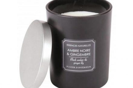 Αρωματικό Κερί Χώρου με άρωμα Black Amber and Ginger Lily και 2 φιτίλια 900gr