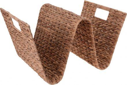 Θήκη περιοδικών με διακοσμητική πλέξη  σε σχήμα κύματος