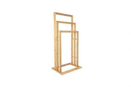 Bamboo Ξύλινη Κρεμάστρα Δαπέδου 42x24x81.5 cm με 3 θέσεις σε Διάφορα Επίπεδα για Πετσέτες Μπάνιου από Μπαμπού - Bamboo
