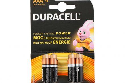Duracell Long Lasting Power Αλκαλικές μπαταρίες ΑΑA NM2400 LR03 συσκευασία 4 τμχ.