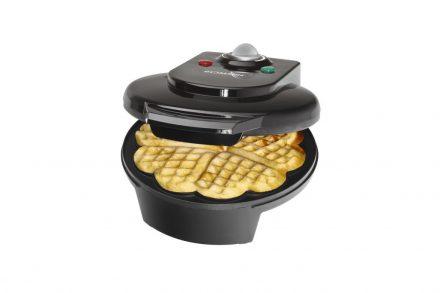 Bomann Waffle Maker Συσκευή παρασκευής Βάφλας Βαφλιέρα 1200W με Αντικολλητικές Πλάκες σε Μαύρο χρώμα