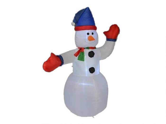 Διακοσμητικός Φουσκωτός Χιονάνθρωπος Φωτιζόμενος από 12 LED ισχύος 12W