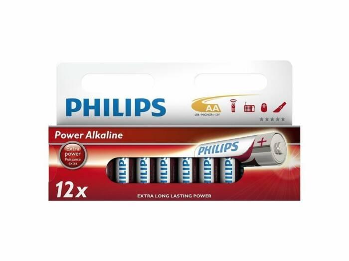 Philips Μπαταρίες Power Alkaline AA 12 τεμ.