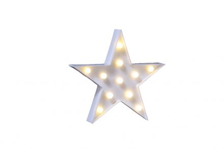 Διακοσμητικό Αστέρι με 11 Led λαμπάκια και λευκό Φωτισμό 27x4