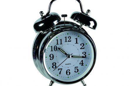 Μεταλλικό vintage ρολόι ξυπνητήρι με διπλό καμπανάκι
