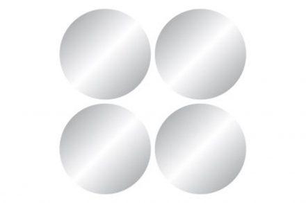 Σετ Στρογγυλοί Καθρέπτες 4 τεμαχίων Μπάνιου με διάμετρο 20 εκατοστά - Cb
