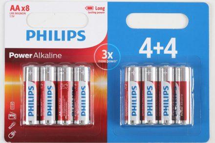 Philips Μπαταρίες Power Alkaline LR/AA 8 τεμαχίων