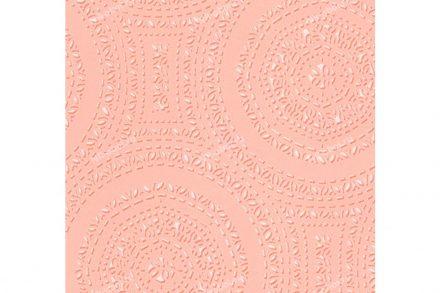 Διακοσμητική Vinyl Ταπετσαρία με Ανάγλυφη Όψη σε Ροζ Χρώμα