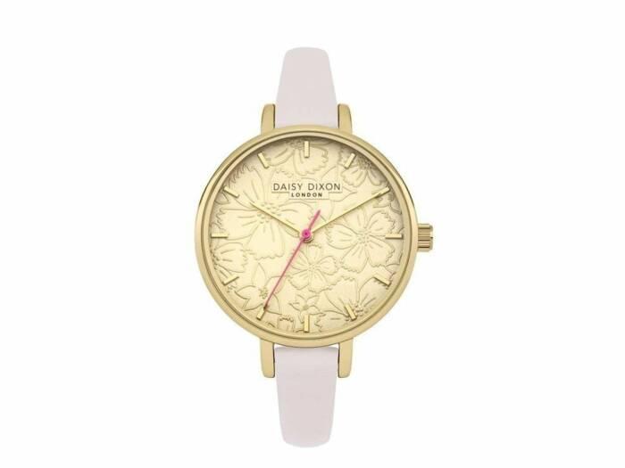 Daisy Dixon Γυναικείο Αναλογικό Ρολόι χειρός με μεταλλικό Χρυσό σκελετό