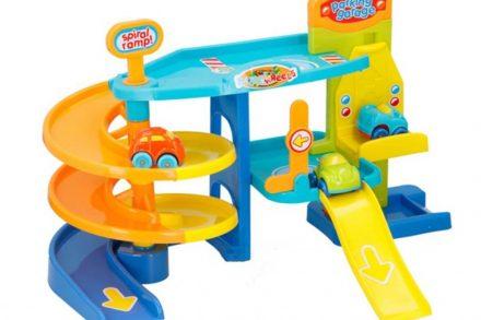 Let's Play Παιδικό Γκαράζ 2 επιπέδων με 3 αυτοκινητάκια