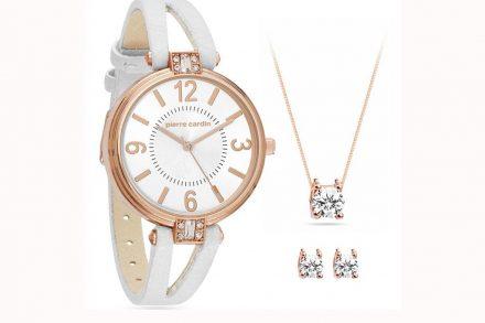 Pierre Cardin Σετ Κοσμημάτων με Ρολόι χειρός σε Ροζ Χρυσό χρώμα