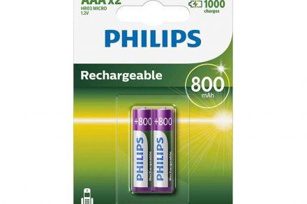 Philips επαναφορτιζόμενες μπαταρίες AAA 800mah