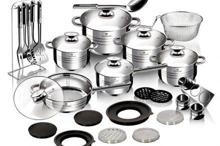 Blaumann Σετ με μαγειρικά σκεύη και αξεσουάρ κουζίνας 32 τεμαχίων από ανοξείδωτο ατσάλι