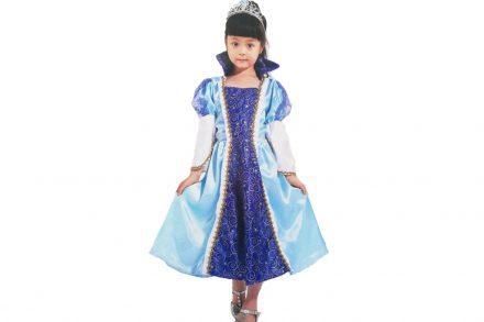 Παιδική αποκριάτικη στολή για κορίτσι Μπλε Πριγκίπισσα