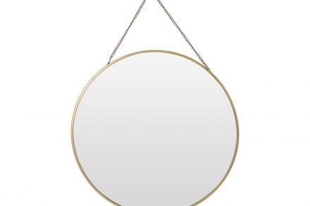 Διακοσμητικός Επιτοίχιος Στρογγυλός Καθρέφτης με Μεταλλική Αλυσίδα