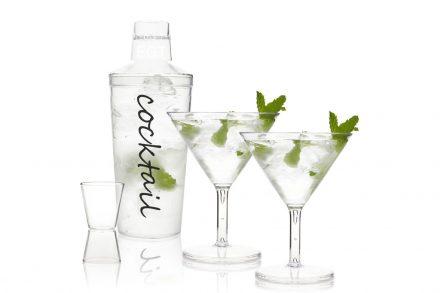Σετ Cocktail Παρασκευής και Σερβιρίσματος Κοκτέιλ 4 τεμαχίων μπουκάλι