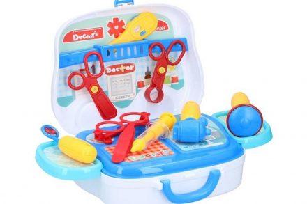 Eddy Toys Παιχνίδι Σετ Γιατρού 14 τεμάχια ιατρικά εργαλεία σε βαλιτσάκι