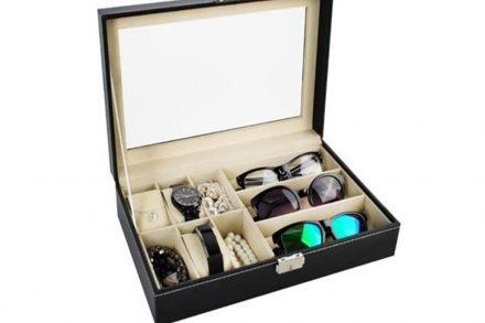 Θήκη ρολογιών 6 θέσεων και 3 θέσεις για γυαλιά