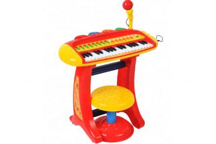 Παιδικό παιχνίδι πιάνο με μικρόφωνο και σκαμπό