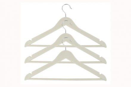 Σετ πλαστικές κρεμάστρες 3 τεμαχίων μήκους 42 εκατοστών σε λευκό χρώμα - Aria Trade