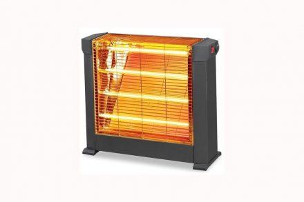 Kumtel Ηλεκτρική Θερμάστρα Σόμπα Χαλαζία 2200watt και 4 λάμπες Χαλαζία