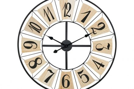 Αναλογικό Μεταλλικό Ρολόι Τοίχου με διάμετρο 70cm - Aria Trade