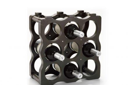 Πλαστική μπουκαλοθήκη Κάβα κρασιών 9 θέσεων στοιβαζόμενη