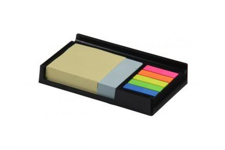 Topwrite Σετ Γραφείου με Τετράγωνα Αυτοκόλλητα Χαρτάκια Σημειώσεων και Παραλληλόγραμμα σε διάφορα χρώματα με Βάση